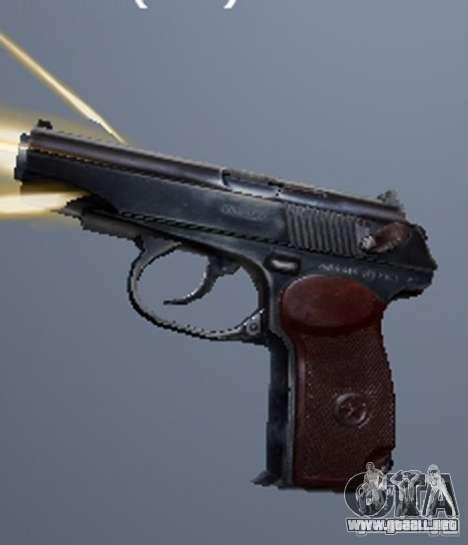 Un conjunto de armas de un acosador para GTA San Andreas octavo de pantalla