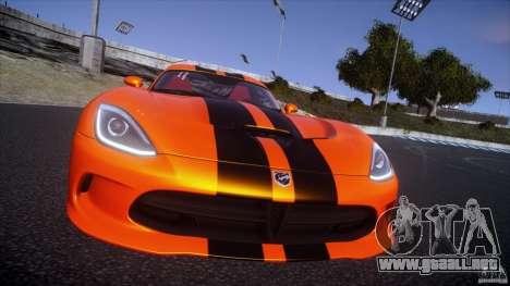 Dodge Viper GTS 2013 v1.0 para GTA 4 vista hacia atrás