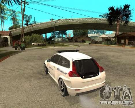 VOLVO C30 SAFETY CAR STCC v2.0 para GTA San Andreas left