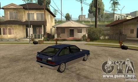 VW Gol GTI 1989 para la visión correcta GTA San Andreas