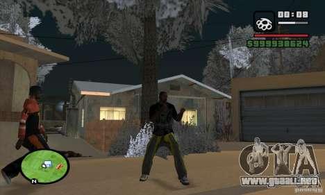 Monster energy suit pack para GTA San Andreas quinta pantalla