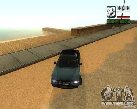 BMW 740i para GTA San Andreas left