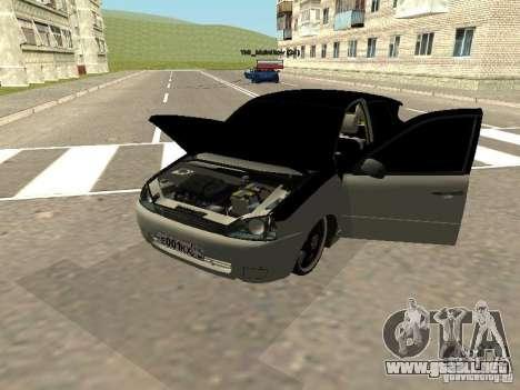 Lada Kalina para GTA San Andreas vista posterior izquierda