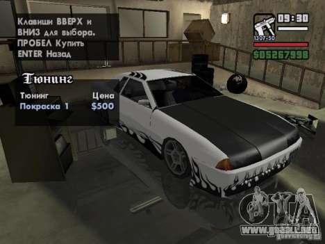 Ultra Elegy v1.0 para GTA San Andreas vista hacia atrás