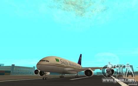 Airbus A380 - 800 para GTA San Andreas left