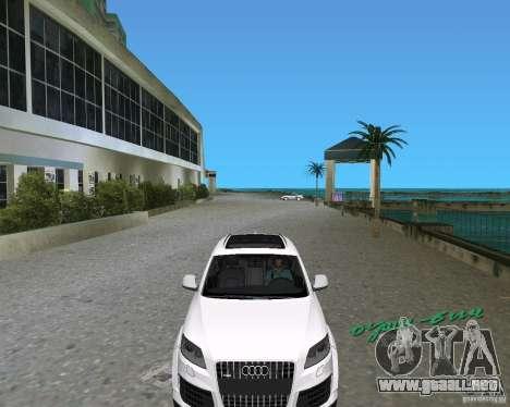 Audi Q7 v12 para GTA Vice City vista lateral izquierdo