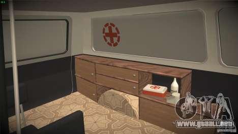 RAF 22031 ambulancia para vista lateral GTA San Andreas