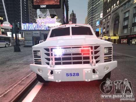 Lenco Bearcat NYPD ESU V.2 para GTA 4 left