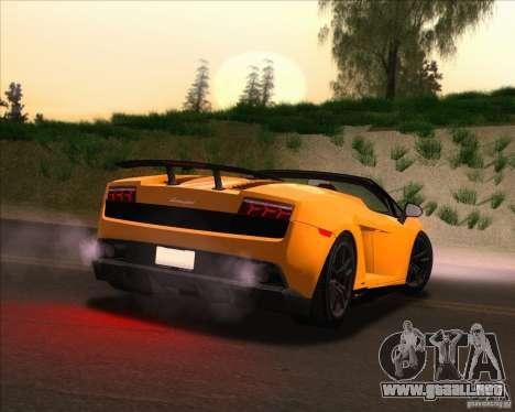 Lamborghini Gallardo LP570-4 Spyder Performante para la vista superior GTA San Andreas