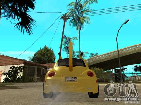 Volkswagen Beetle Pokemon para GTA San Andreas vista posterior izquierda