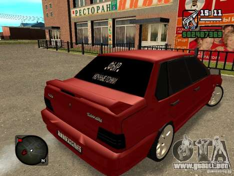VAZ 2115 FYR Beta para GTA San Andreas left
