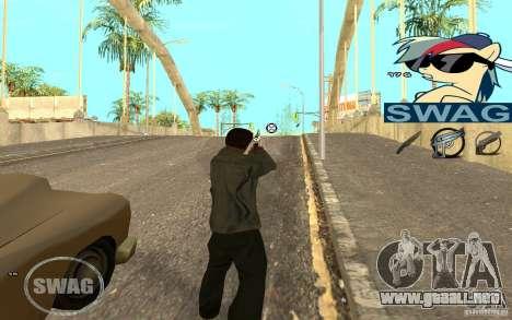C-HUD Pony SWAG para GTA San Andreas segunda pantalla