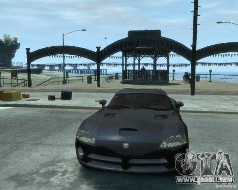 Dodge Viper srt-10 Coupe para GTA 4 vista hacia atrás