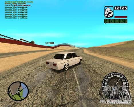 2106 Vaz tuning para GTA San Andreas vista posterior izquierda