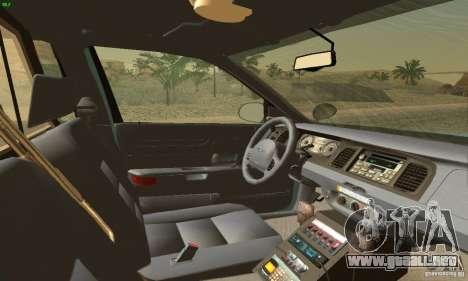Ford Crown Victoria Maine Police para GTA San Andreas vista posterior izquierda