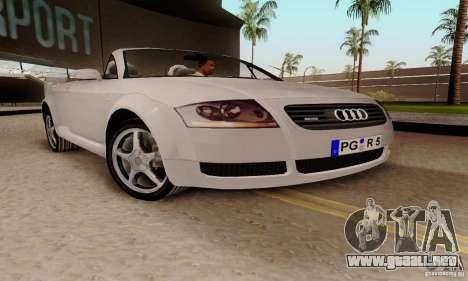 Audi TT Roadster para la visión correcta GTA San Andreas