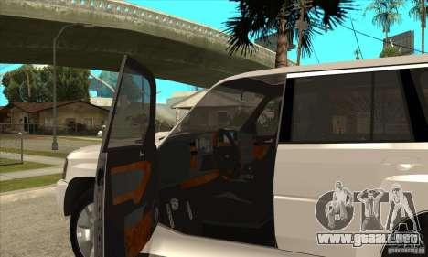 Nissan Patrol 2005 Stock para la vista superior GTA San Andreas