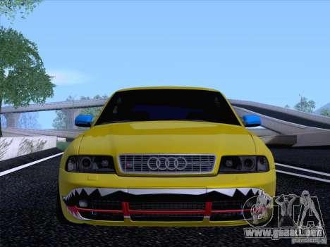 Audi S4 DatShark 2000 para GTA San Andreas vista hacia atrás