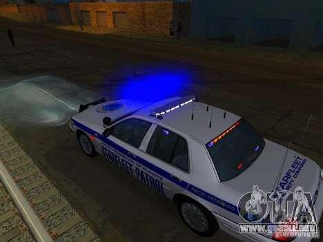 Ford Crown Victoria Police Interceptor 2008 para vista inferior GTA San Andreas