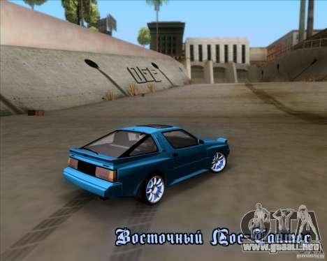Mitsubishi Starion para la vista superior GTA San Andreas