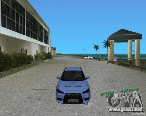 Mitsubishi Lancer Evo X para GTA Vice City left