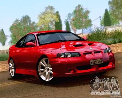 Vauxhall Monaro VXR para GTA San Andreas