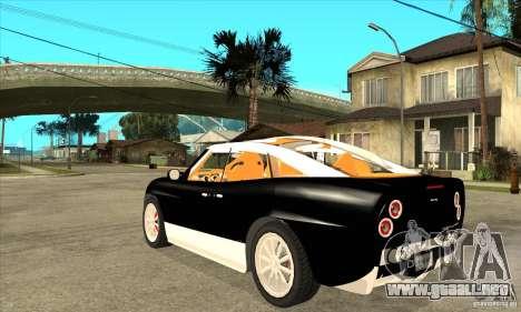 Spyker D8 Peking-to-Paris para GTA San Andreas vista posterior izquierda