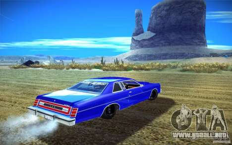 Ford LTD Coupe 1975 para GTA San Andreas vista posterior izquierda