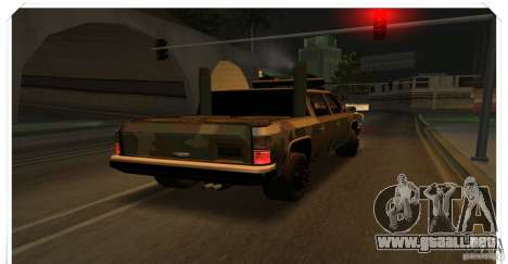 New Rancher para GTA San Andreas vista posterior izquierda