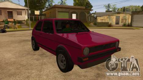 Volkwagen Golf MK1 Stock para vista lateral GTA San Andreas