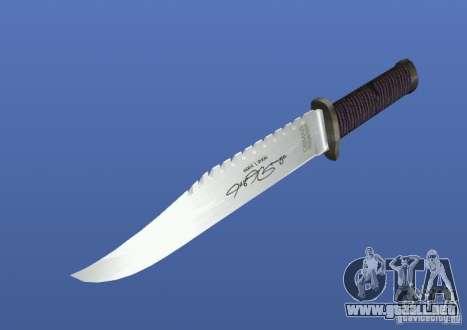 Cuchillo de Rambo con firma para GTA 4