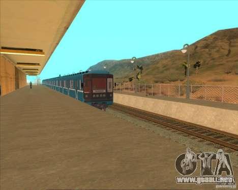 Las plataformas altas en las estaciones de tren para GTA San Andreas octavo de pantalla