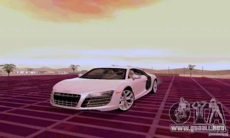 Audi R8 V10 5.2. FSI para GTA San Andreas