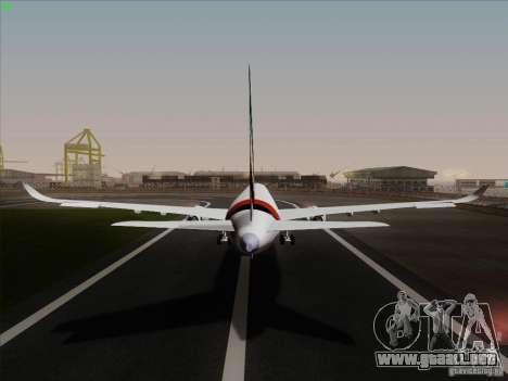 Airbus A350-900 Emirates para visión interna GTA San Andreas