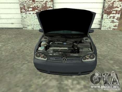 Volkswagen Golf IV para la visión correcta GTA San Andreas