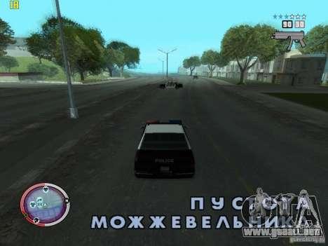 Además del HUD de GTA IV para GTA San Andreas segunda pantalla