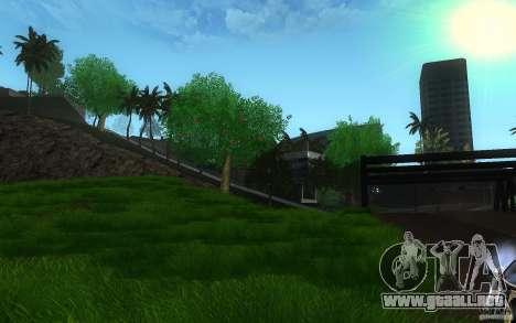 Vegetación perfecta v. 2 para GTA San Andreas segunda pantalla