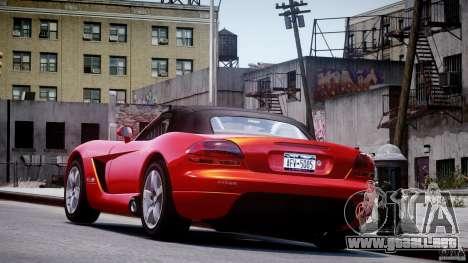 Dodge Viper SRT-10 2003 1.0 para GTA 4 Vista posterior izquierda