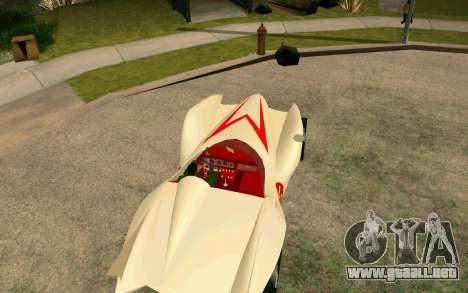 Mach 5 para GTA San Andreas vista posterior izquierda