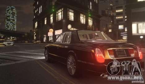 Bentley Arnage T v 2.0 para GTA 4 Vista posterior izquierda