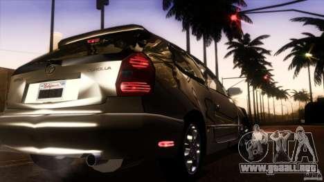 Toyota Corolla G6 Compact E110 US para la vista superior GTA San Andreas