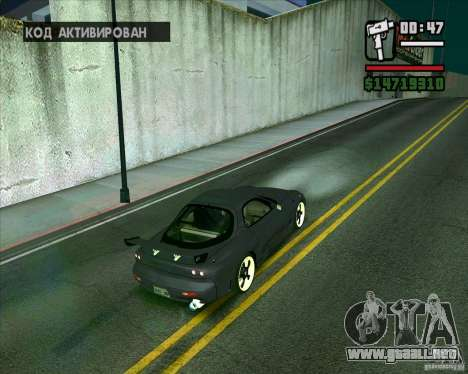 Mazda RX-7 WeaponWar para GTA San Andreas left