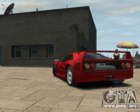 Ferrari F40 para GTA 4 Vista posterior izquierda