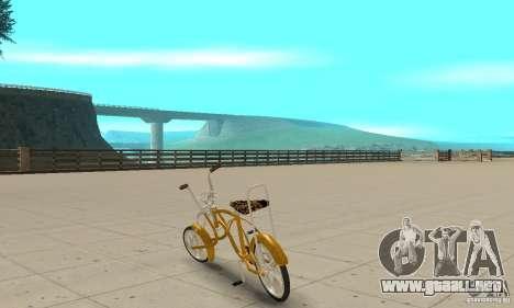 Lowrider para GTA San Andreas vista posterior izquierda