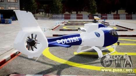 Eurocopter EC 130 Finnish Police para GTA 4 vista lateral