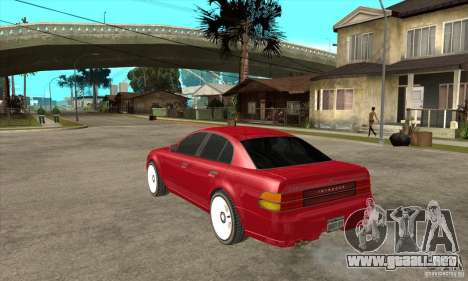 GTA IV Intruder para GTA San Andreas vista posterior izquierda