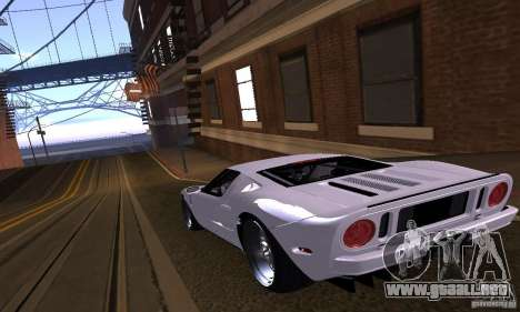 Ford GT 2005 para vista inferior GTA San Andreas