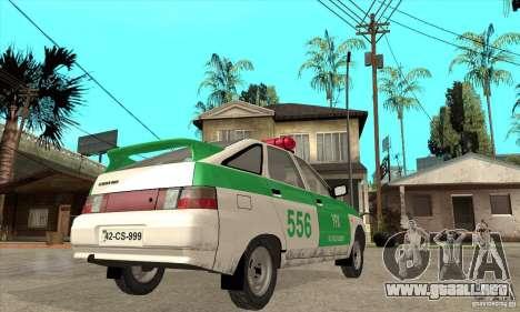 Policía YPX VAZ-2112 para la visión correcta GTA San Andreas