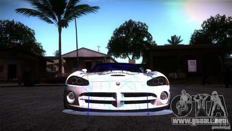 Dodge Viper Mopar Drift para GTA San Andreas vista hacia atrás