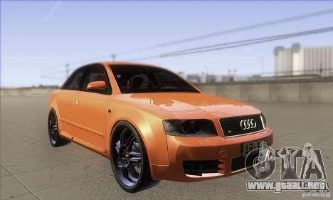 Audi S4 DIM para GTA San Andreas vista hacia atrás